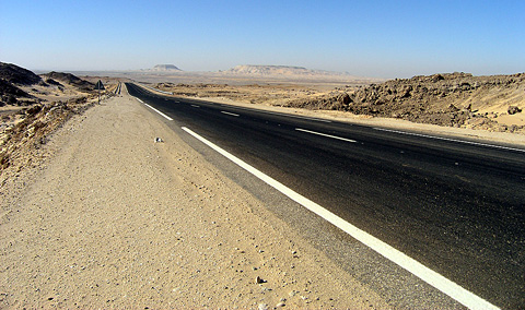 Desert road to Kharga