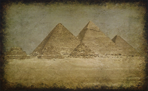 Classic view of the Pyramids