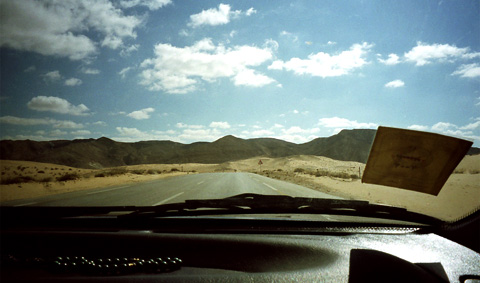 Driving through the Mitla Pass, Sinai