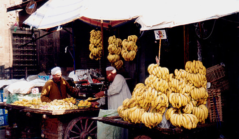 Street market in the Qasabah