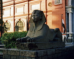 Sphinx in the Egyptian Museum garden