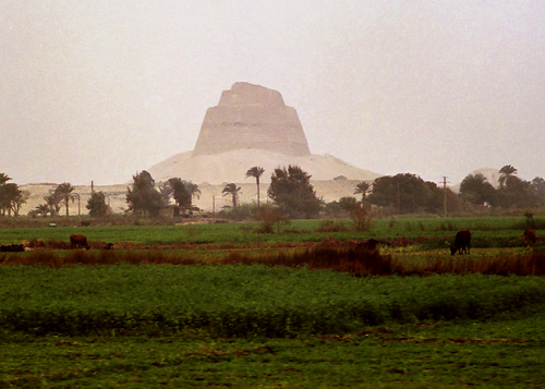 Flying past Meidum Pyramid