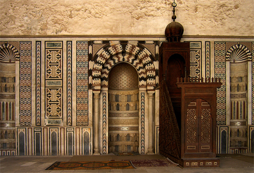 Mihrab and Minbar in the Mosque of al-Nasr