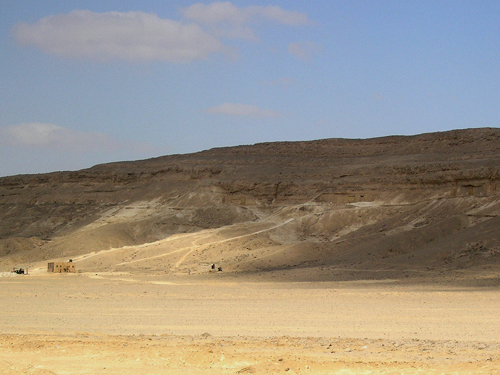 Looking towards Amarna North Tombs
