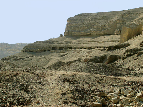 Rock-cut tombs at Tihna el-Gebel
