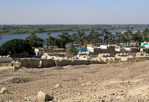 View over the Muslim cemetery