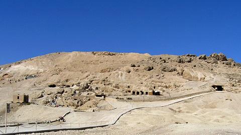 Tombs at Dra Abu'l-Naga