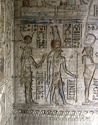 Reliefs in the Ptolemaic Temple