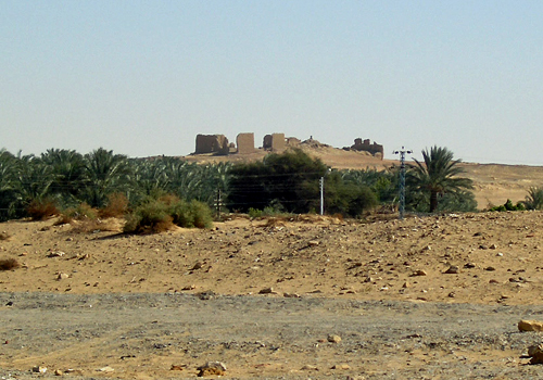 Distant view of Nadura Fortress
