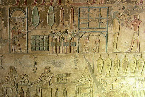 Funerary scenes n the tomb of Renni