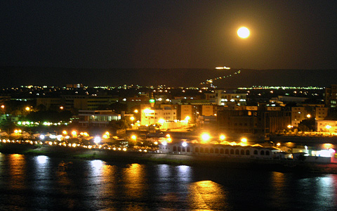 Full moon over Sohag