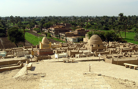 Muslim cemetery at the site of el-Hammamiya