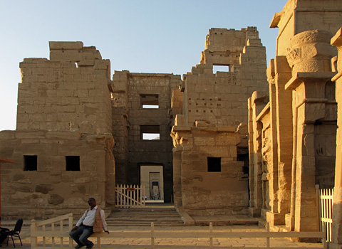 Entrance to Medinet Habu Temple