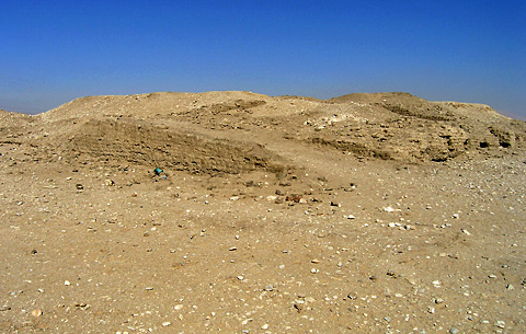 Mudbrick platform at Kom el-'Abt