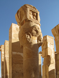 Hathor-headed columns