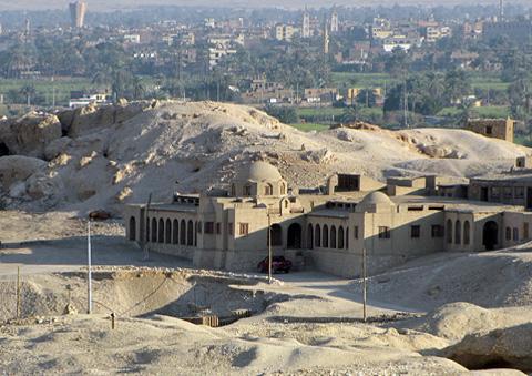 Metropolitan/Polish dig-house at Deir el-Bahri