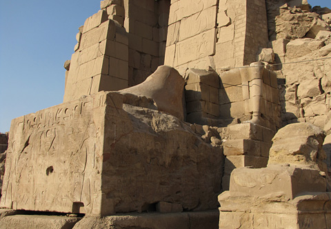 Feet of Amenhotep III at the tenth pylon