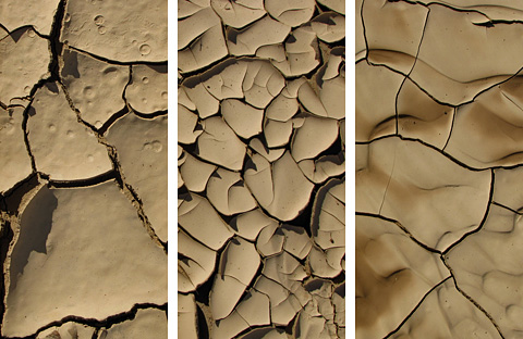 Patterns in dried mud