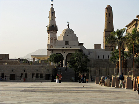 Plaza in front of Luxor mosques