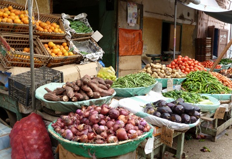 Kharga produce in the old suq