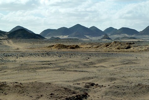Conical hills on the Road to Dakhla