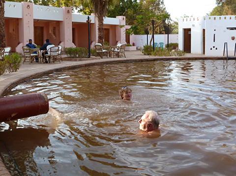 A dip in the hot spring