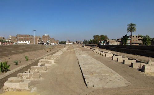Newly paved Sphinx Avenue