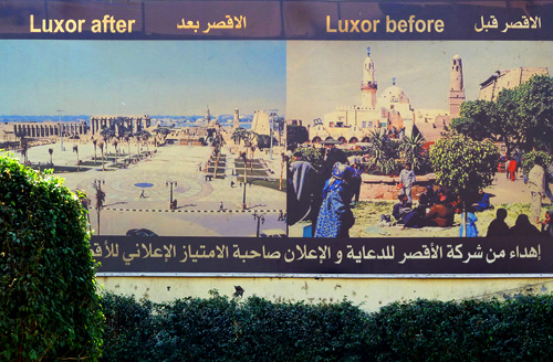 Luxor before and after