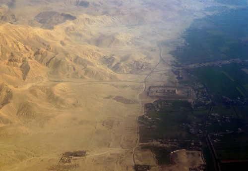 Aerial view of the Theban Monuments